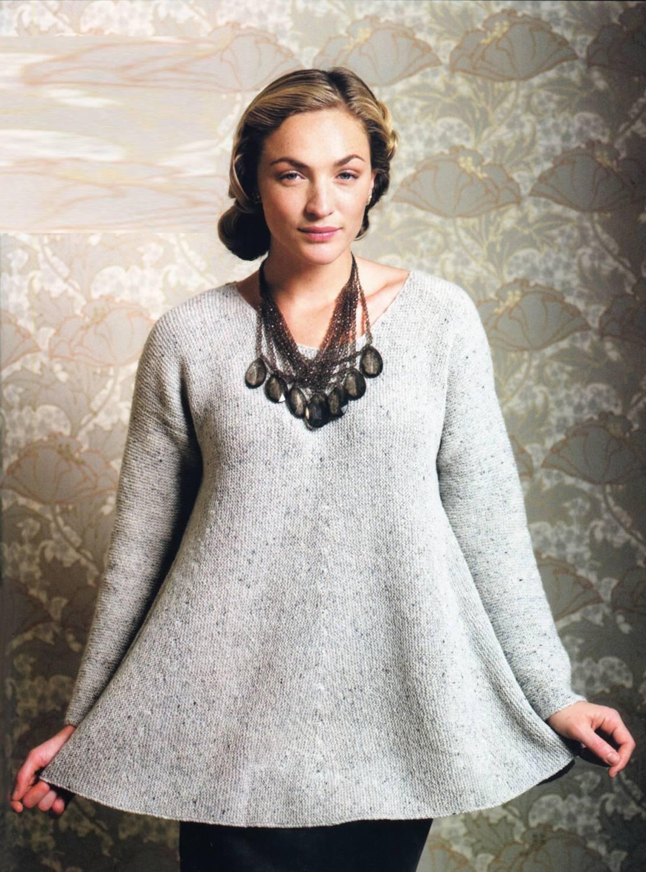 вязание спицами схемы и модели кофты для полных женщин 52