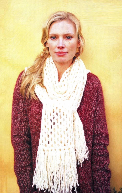 Вязание на спицах красивых шарфов